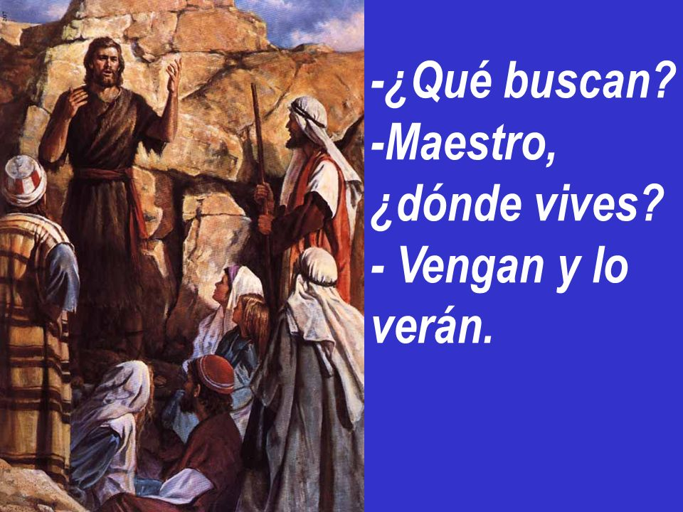 Y los discípulos se acercaron a Jesús.