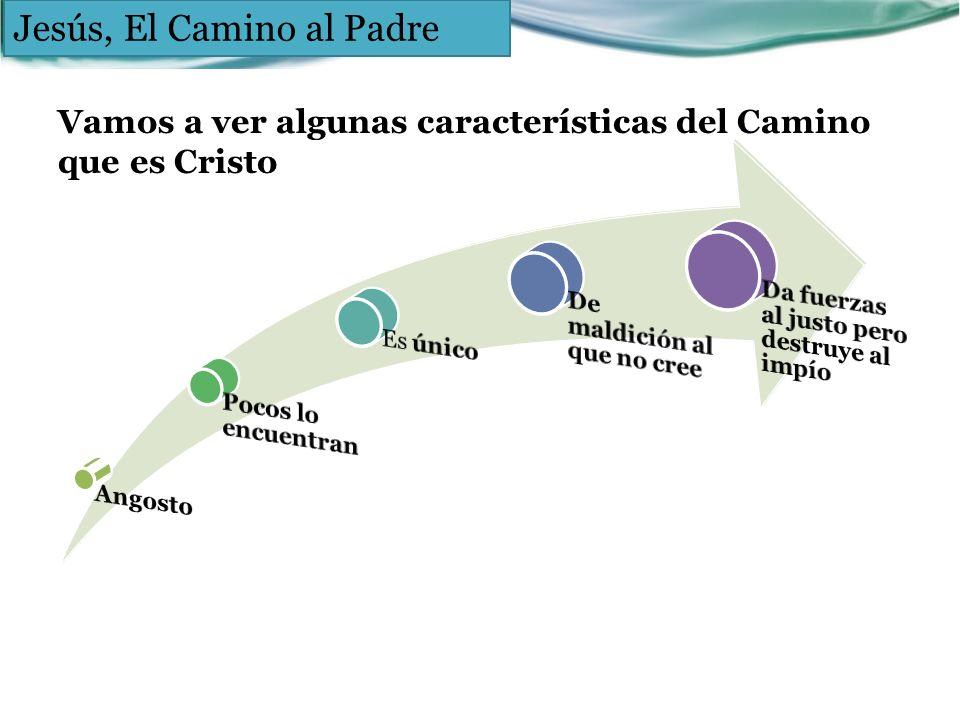 Vamos a ver algunas características del Camino que es Cristo Jesús, El Camino al Padre