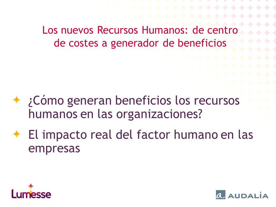 ¿Cómo generan beneficios los recursos humanos en las organizaciones.