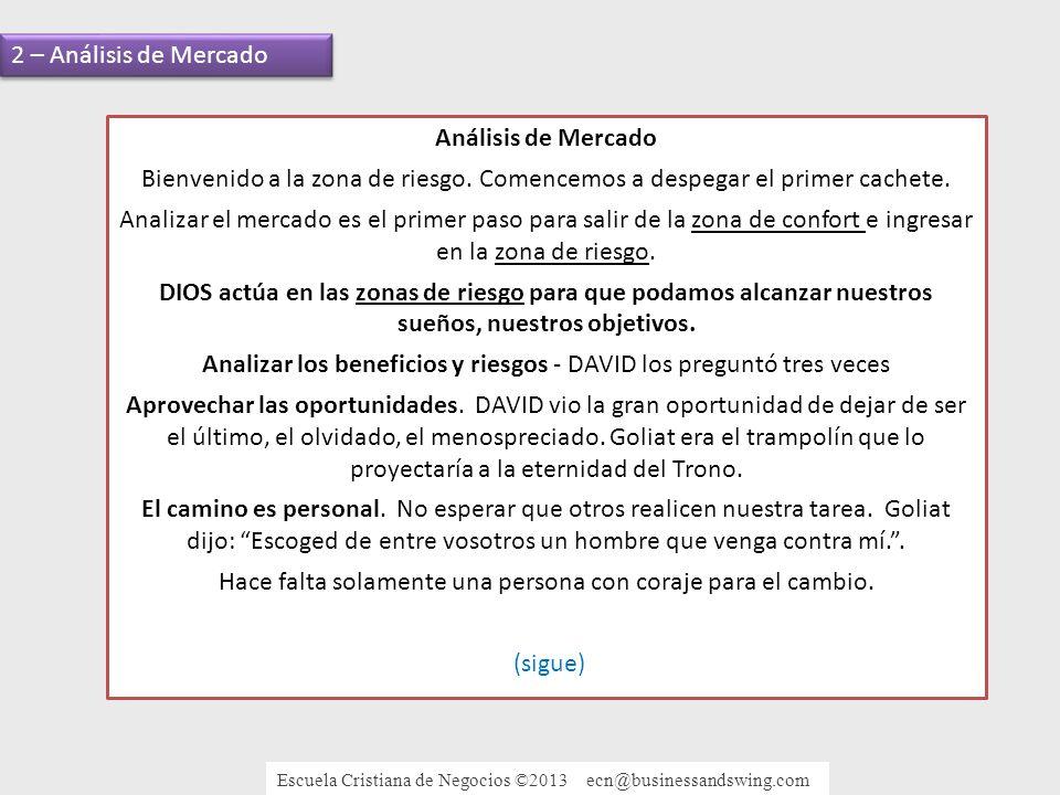Análisis de Mercado Bienvenido a la zona de riesgo.