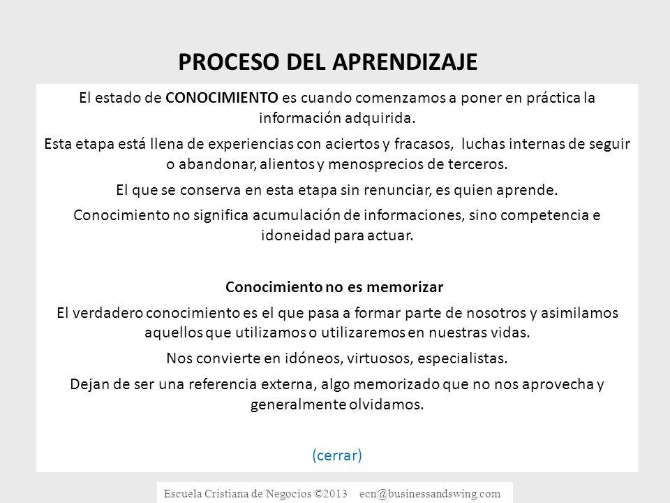 IGNORANCIA SABIDURIA INFORMACION CONOCIMIENTO PROCESO DEL APRENDIZAJE A ENSEÑAR.