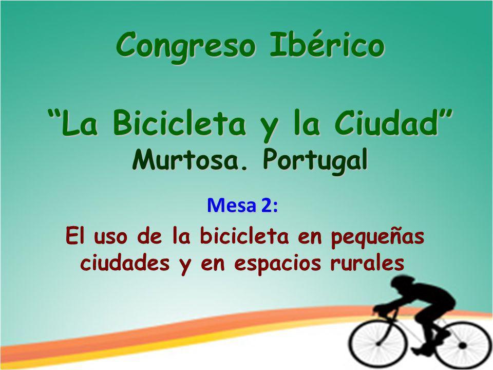 Congreso Ibérico La Bicicleta y la Ciudad Murtosa.