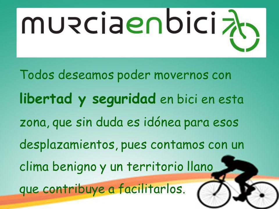 Todos deseamos poder movernos con libertad y seguridad en bici en esta zona, que sin duda es idónea para esos desplazamientos, pues contamos con un clima benigno y un territorio llano que contribuye a facilitarlos.