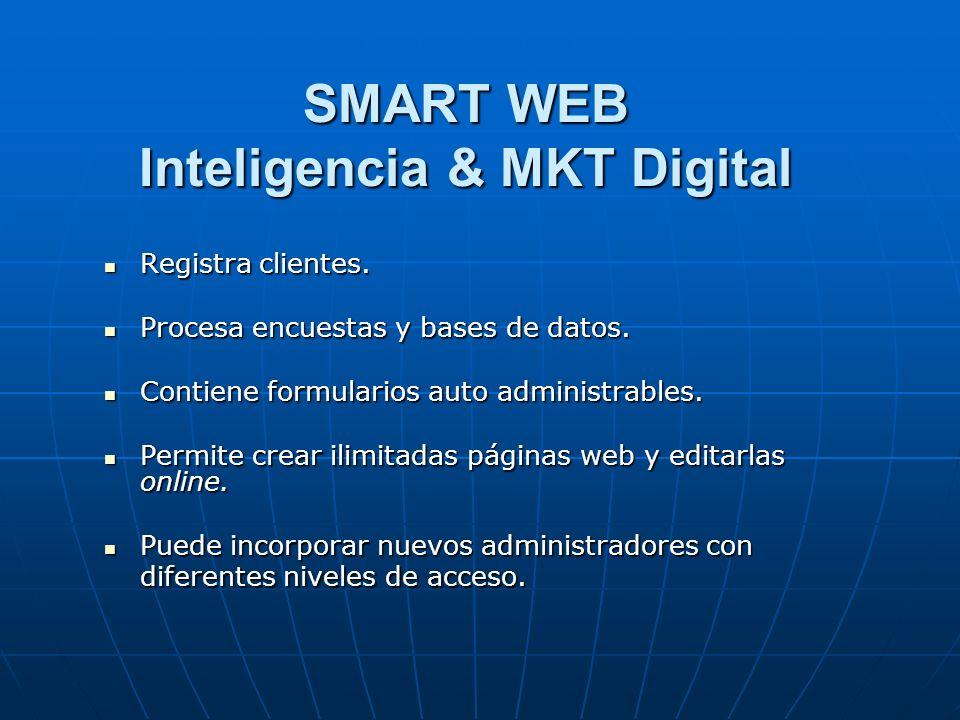 SMART WEB Inteligencia & MKT Digital Registra clientes.