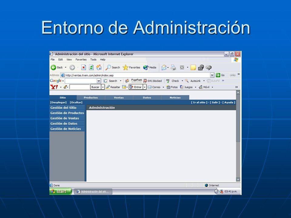 Entorno de Administración