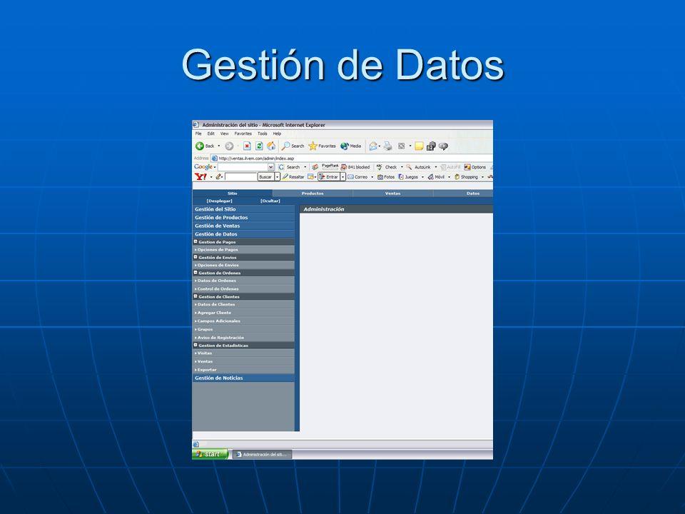 Gestión de Datos