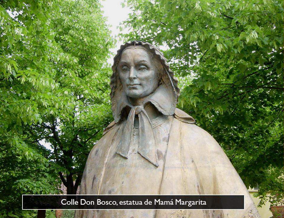 Lápida que recuerda la aparición nocturna de Luis Comollo: Bosco, me he salvado