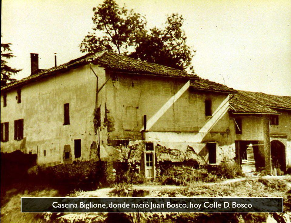 Cascina Biglione, donde nació Juan Bosco, hoy Colle D. Bosco