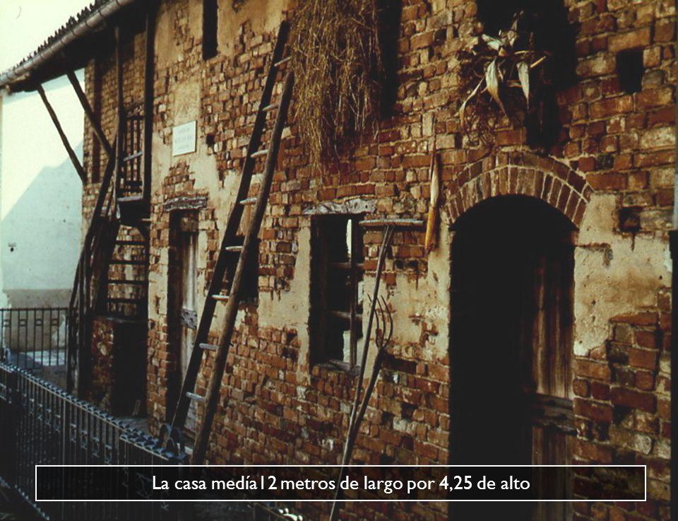 La casa medía12 metros de largo por 4,25 de alto