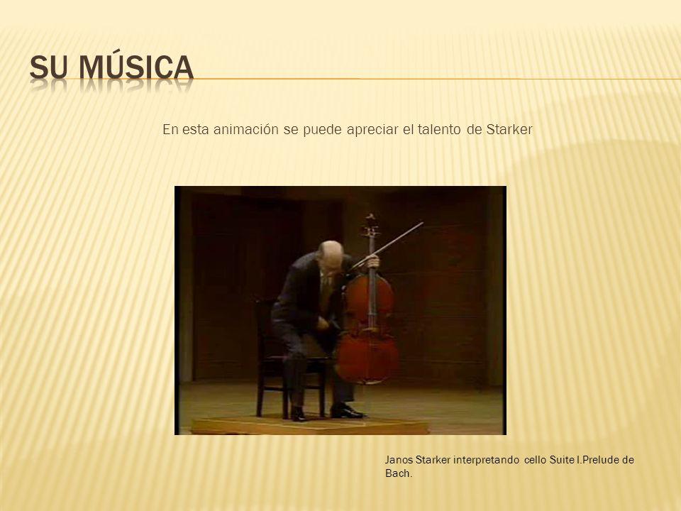 En esta animación se puede apreciar el talento de Starker Janos Starker interpretando cello Suite I.Prelude de Bach.
