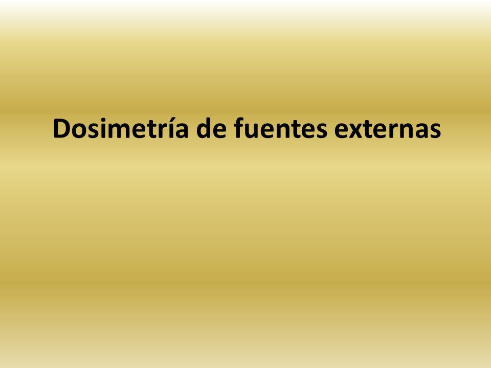 Dosimetría de fuentes externas