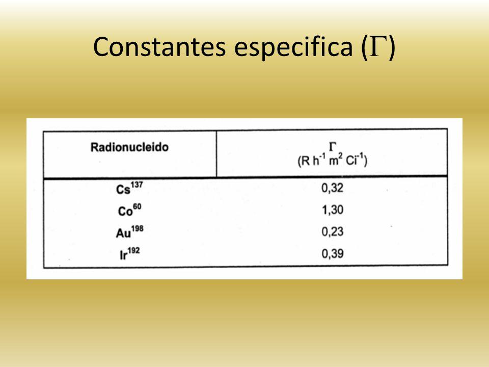 Constantes especifica ( )