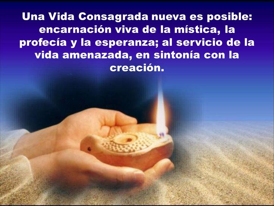 Una Vida Consagrada nueva es posible: encarnación viva de la mística, la profecía y la esperanza; al servicio de la vida amenazada, en sintonía con la