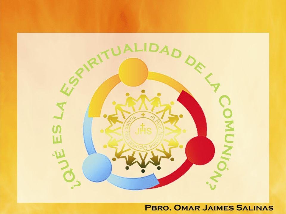 JUAN PABLO II ESPIRITUALIDAD DE LA COMUNIÓN SIGNIFICA ANTE TODO UNA MIRADA DEL CORAZÓN SOBRE TODO HACIA EL MISTERIO DE LA TRINIDAD QUE HABITA EN NOSOTROS, Y CUYA LUZ HA DE SER RECONOCIDA TAMBIÉN EN L ROSTRO DE LOS HERMANOS QUE ESTÁN A NUESTRO LADO.