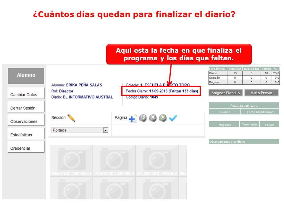 Los datos que están marcados dentro del cuadro rojo no se pueden modificar.