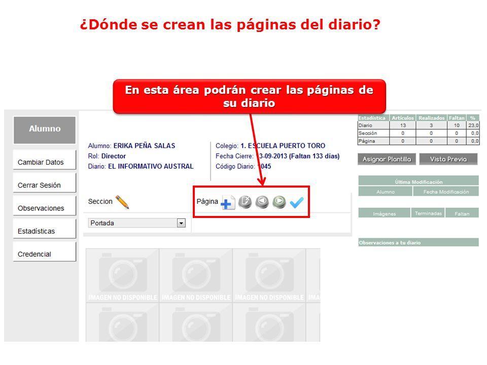 Debes clickear sobre el icono que tiene una pagina y un signo Cuando crean las páginas, deben clikear sobre el botón Asignar Plantilla para que su página tenga un formato para ingresar los textos