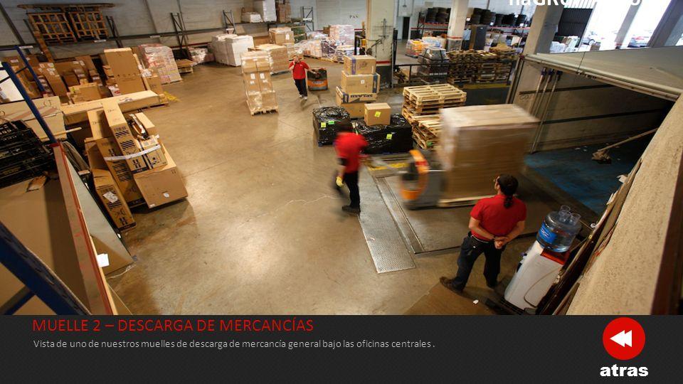 CONTROL DE MERCANCÍAS Todas las mercancías que llegan a nuestros almecenes son escaneadas para el control de su llegada, así como escaneadas de nuevo para el control de su distribución y reparto.