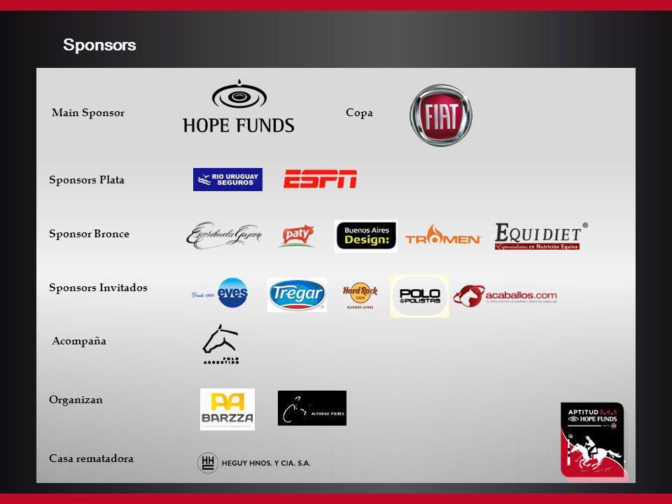 Sponsors Main Sponsor Copa Sponsors Plata Sponsor Bronce Sponsors Invitados Acompaña Organizan Casa rematadora