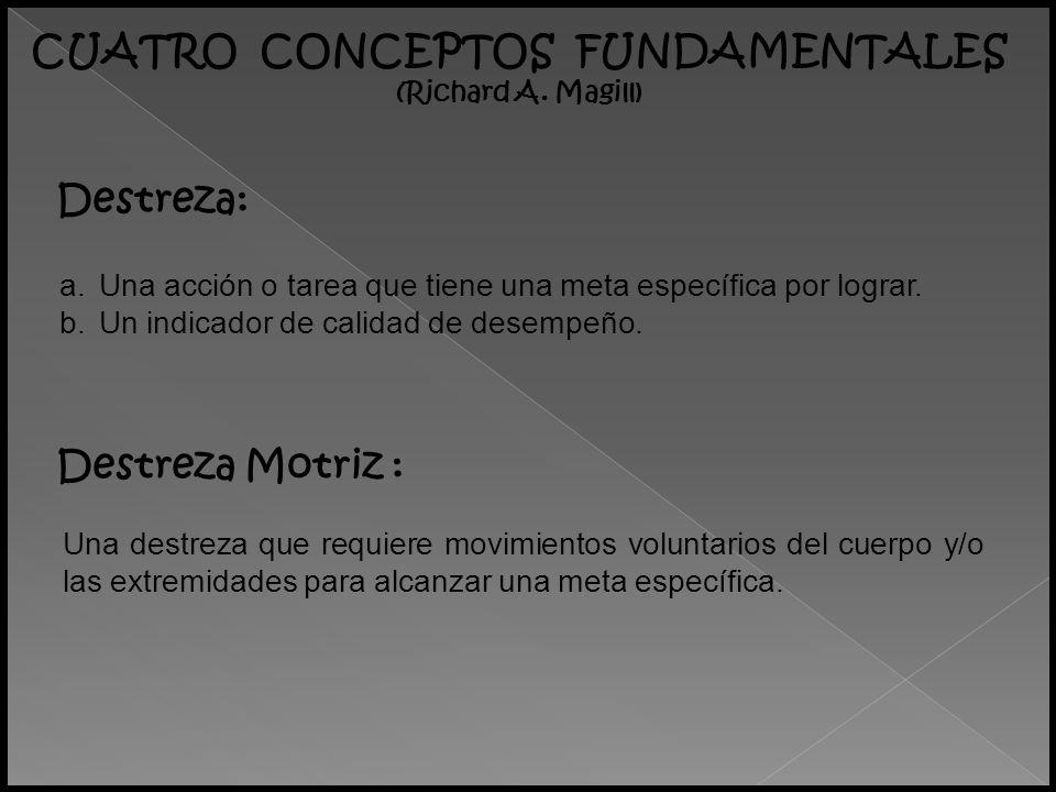 CLASIFICACIÓN DE LAS DESTREZAS MOTRICES (Richard A.
