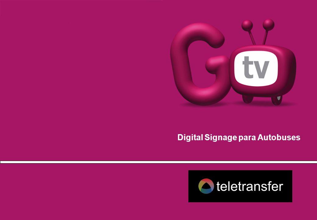 El contenido de la nueva generación GOTV sigue creciendo y en las marquesinas de los autobuses se incorpora una solución interactiva, donde se ofrece un directorio de la ciudad para dar un servicio personalizado al pasajero (y a la entidad poseedora) permitiéndole escoger lo que quiere ver.