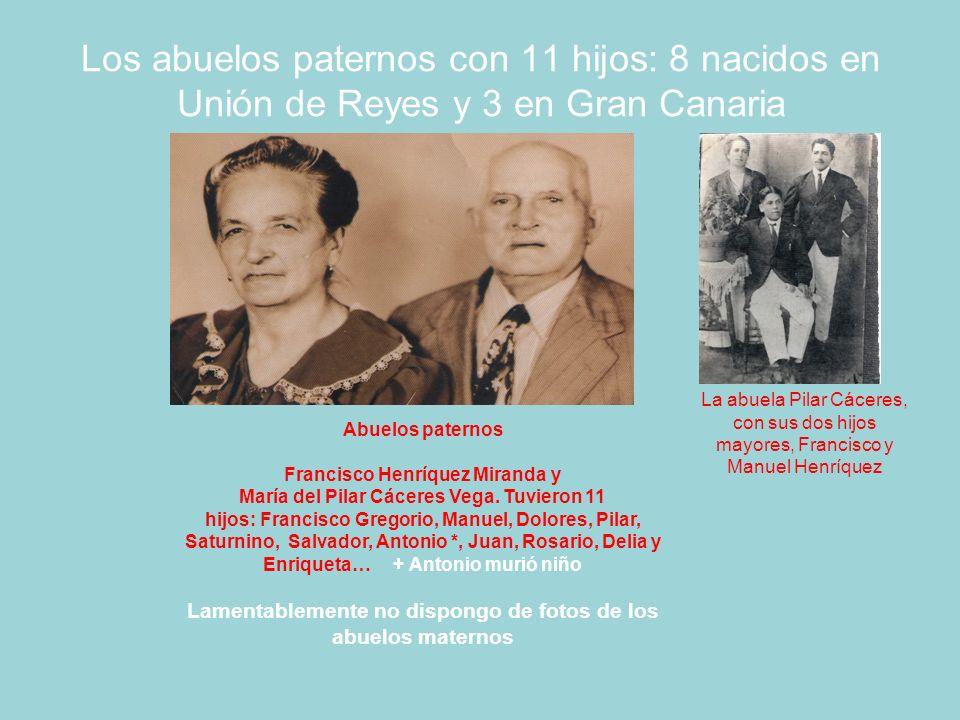 La familia Henríquez con siete hijos De izquierda a derecha: Lorenzo (1937), Carmelo, (1934), Francisco (1928), José M.