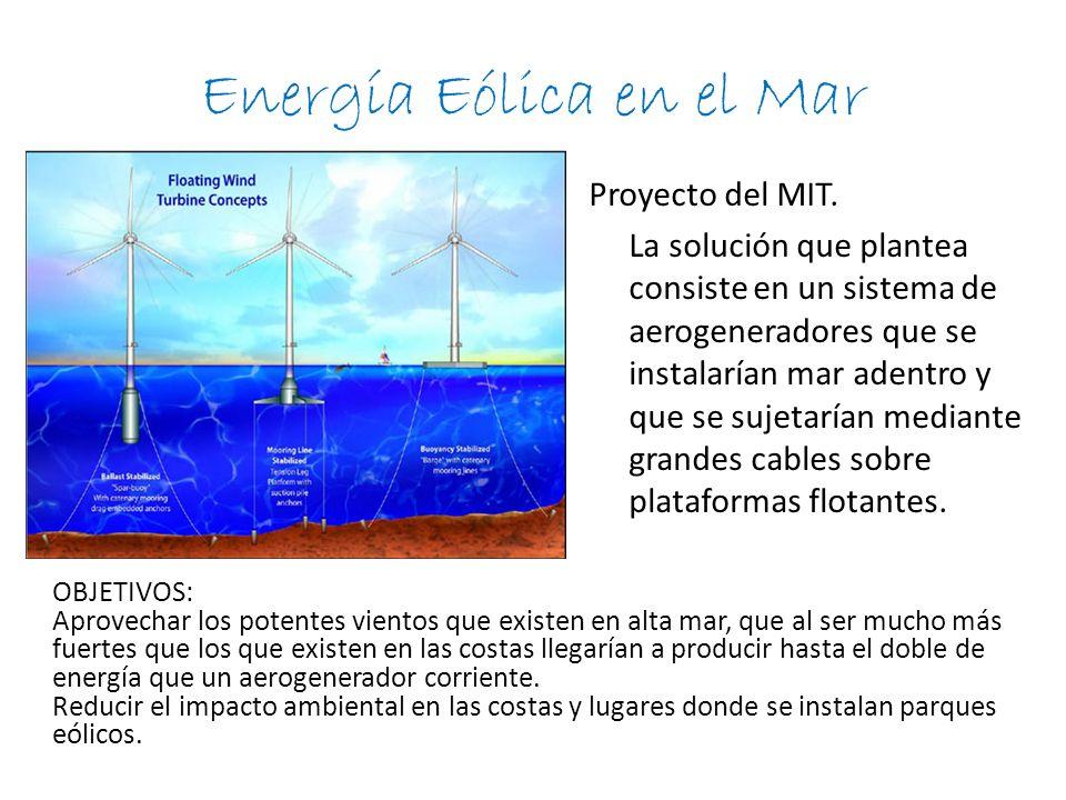 Energía Eólica en el Mar Proyecto del MIT.