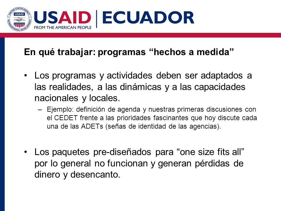 Como buscamos aplicar estas lecciones para el caso de Ecuador.