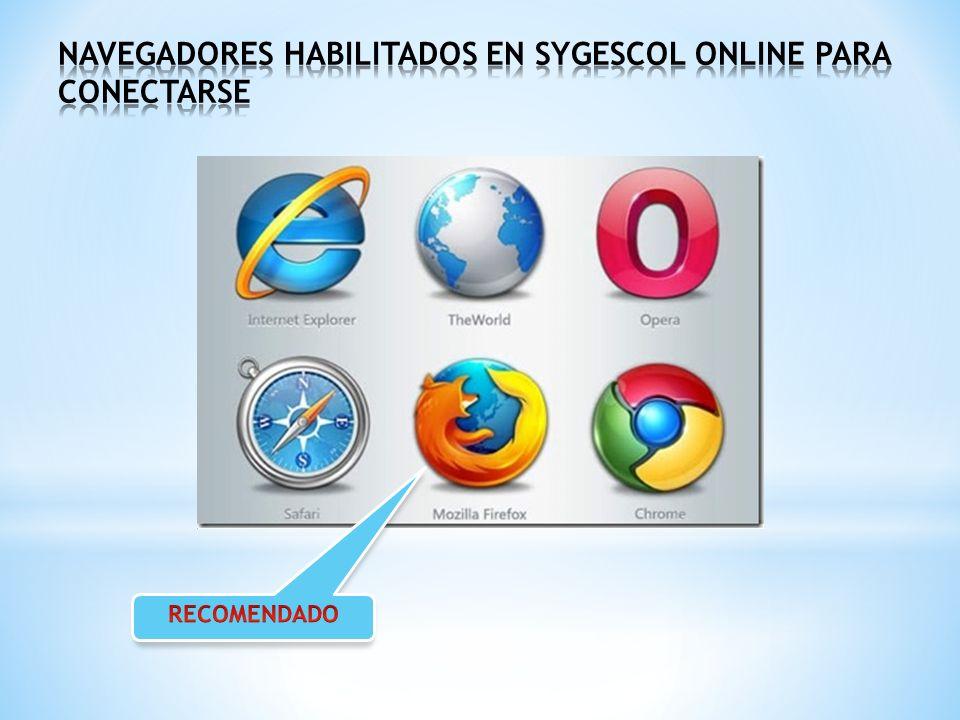 PRIMER PASO PARA INGRESAR A SYGESCOL ONLINE En esta sección se digita la dirección Web de su Colegio OJO OJO con esta recomendación