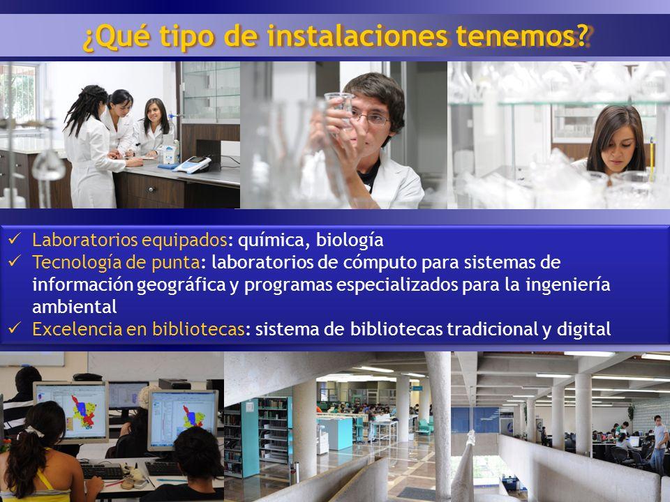 16 ¿Qué tipo de instalaciones tenemos? Laboratorios equipados: química, biología Tecnología de punta: laboratorios de cómputo para sistemas de informa