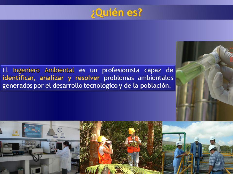 1 7 Ingeniero Ambiental El Ingeniero Ambiental es un profesionista capaz de identificar, analizar y resolver problemas ambientales generados por el de