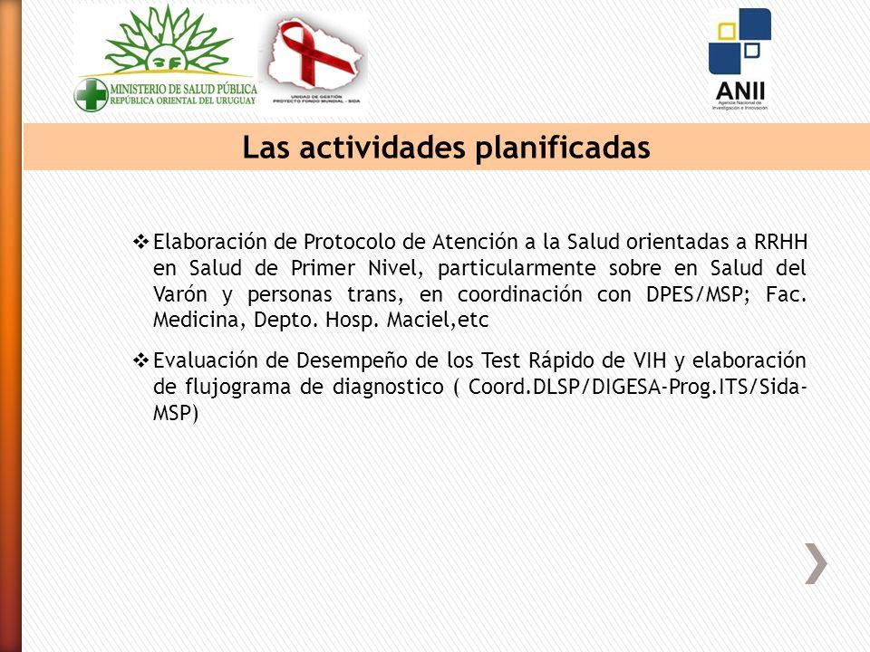 Elaboración de Protocolo de Atención a la Salud orientadas a RRHH en Salud de Primer Nivel, particularmente sobre en Salud del Varón y personas trans, en coordinación con DPES/MSP; Fac.