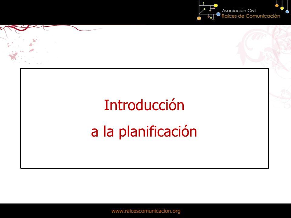 Introducción a la planificación