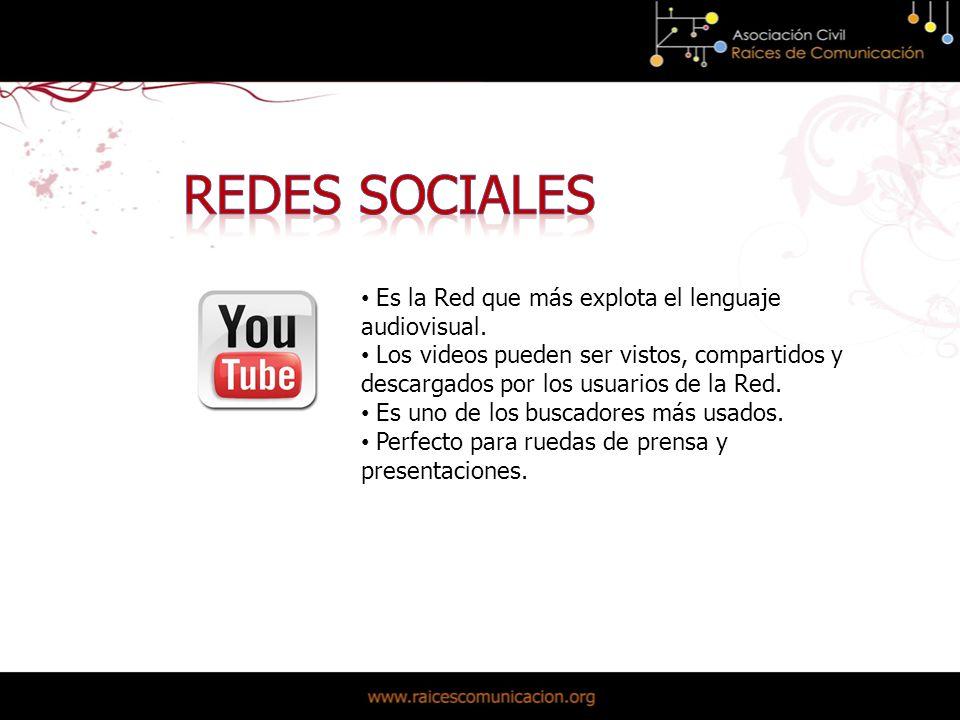 Es la Red que más explota el lenguaje audiovisual.