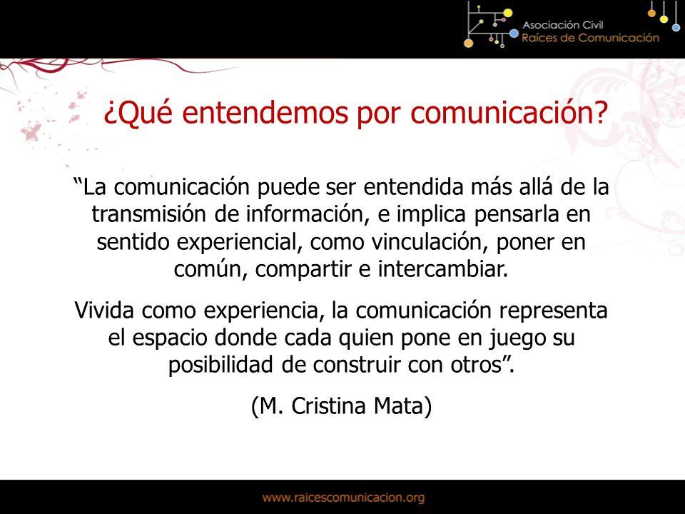 ¿Qué entendemos por comunicación.