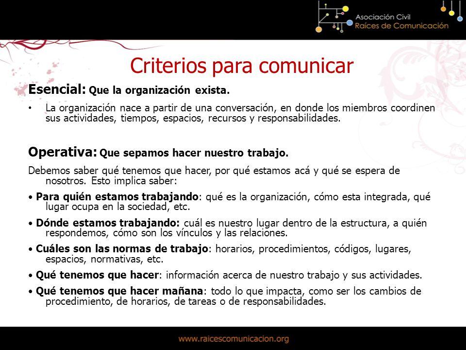 Estratégica: Que sepamos por qué debemos hacerlo La comunicación interna ayuda a que entendamos por qué hacemos lo que hacemos.