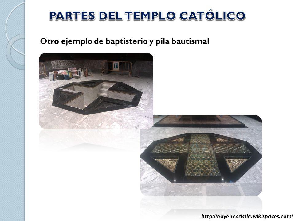 Otro ejemplo de baptisterio y pila bautismal http://hoyeucaristia.wikispaces.com/