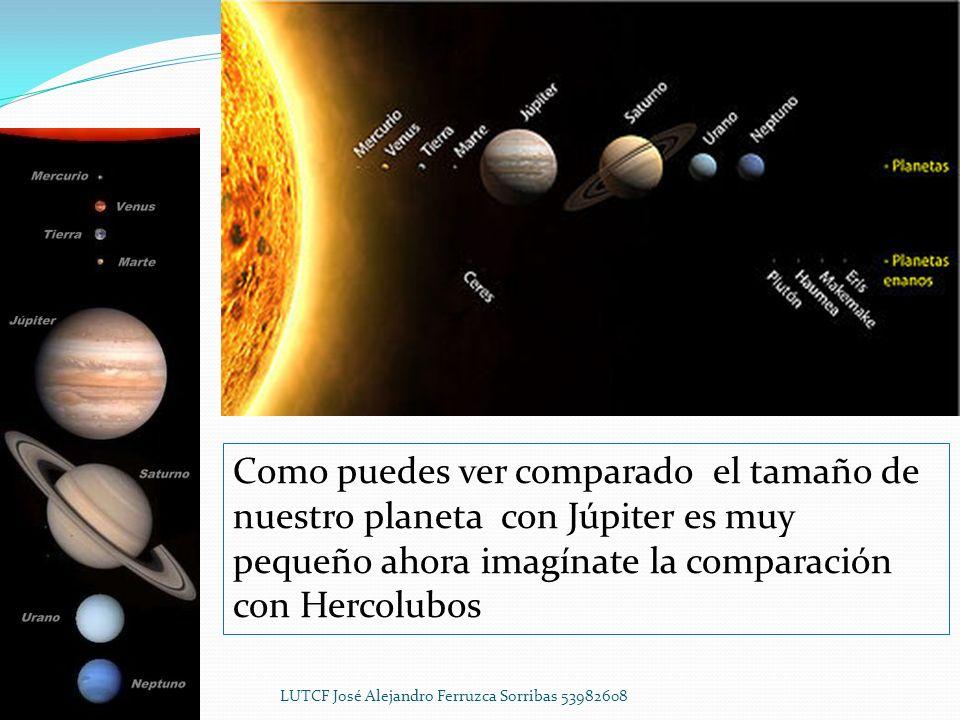 1.Ercolubus Esto ocasionara un choque magnético con la tierra ya que es 5 veces mas grande que Júpiter y para darnos una idea de su tamaño Júpiter es 318 veces más grande que la tierra por lo tanto Ercolubus es 1,590 veces más grande que la tierra.