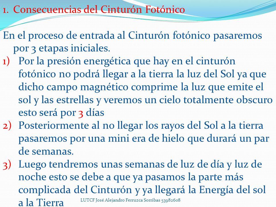 1.Consecuencias del Cinturón Fotónico En el proceso de entrada al Cinturón fotónico pasaremos por 3 etapas iniciales.