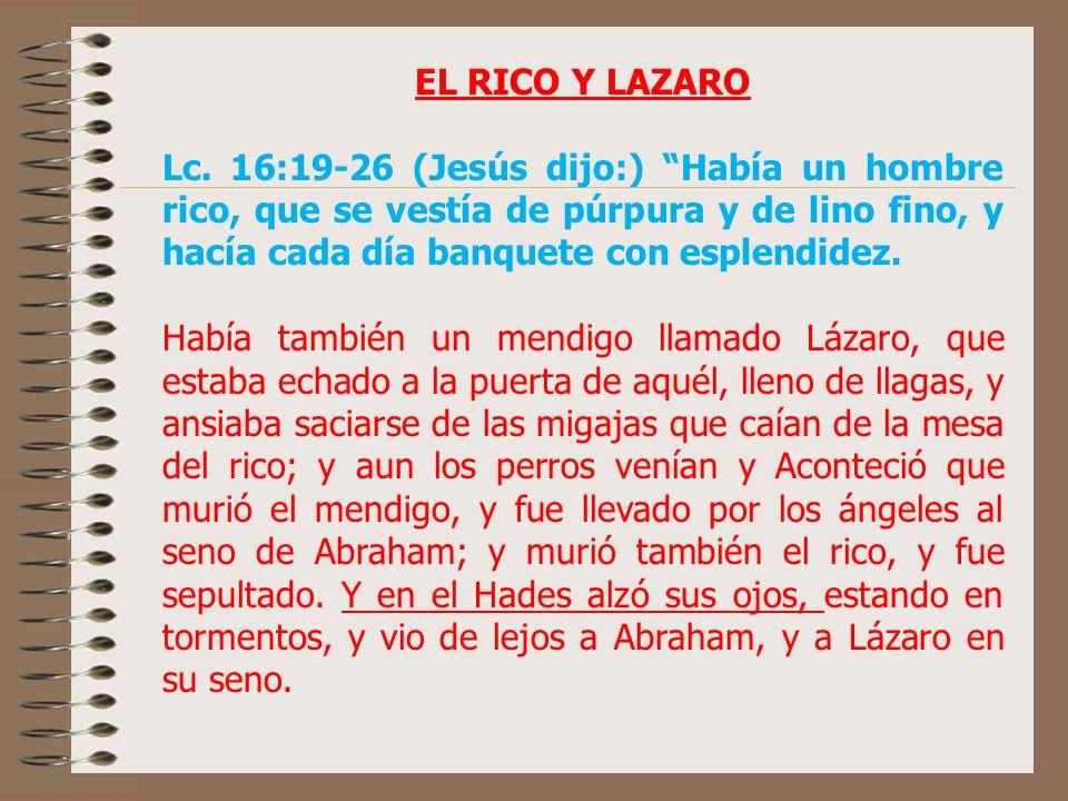 EL RICO Y LAZARO Lc.