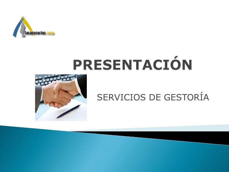 SERVICIOS DE GESTORÍA