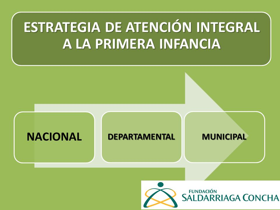 ESTRATEGIA DE ATENCIÓN INTEGRAL A LA PRIMERA INFANCIA NACIONAL DEPARTAMENTALMUNICIPAL