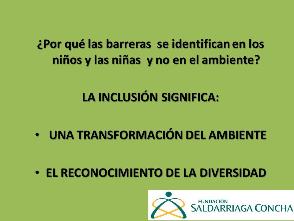 ASPECTOS A TRABAJAR índice para la Inclusión en la educación inicial.