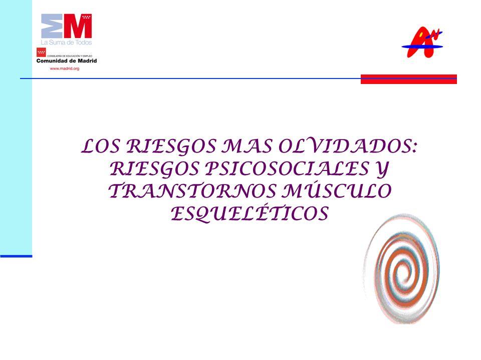 LOS RIESGOS MAS OLVIDADOS: RIESGOS PSICOSOCIALES Y TRANSTORNOS MÚSCULO ESQUELÉTICOS