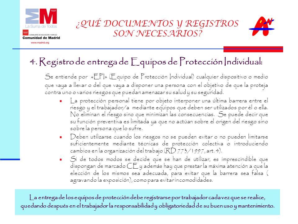 ¿QUÉ DOCUMENTOS Y REGISTROS SON NECESARIOS.4.