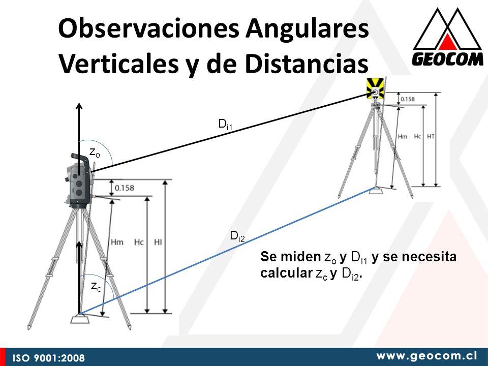 zozo zczc D i1 D i2 Se miden z o y D i1 y se necesita calcular z c y D i2.