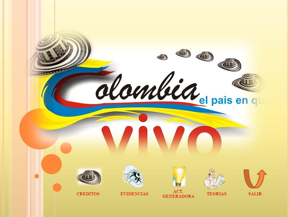 CENTRO EDUCATIVO CIENAGUITA PROYECTO PEDAGOGICO DE AULA COLOMBIA EL PAIS EN QUE VIVO COORDINADORAS: ALBA ACOSTA NARVAEZ ALCIRA CASTAÑO ARIZAL