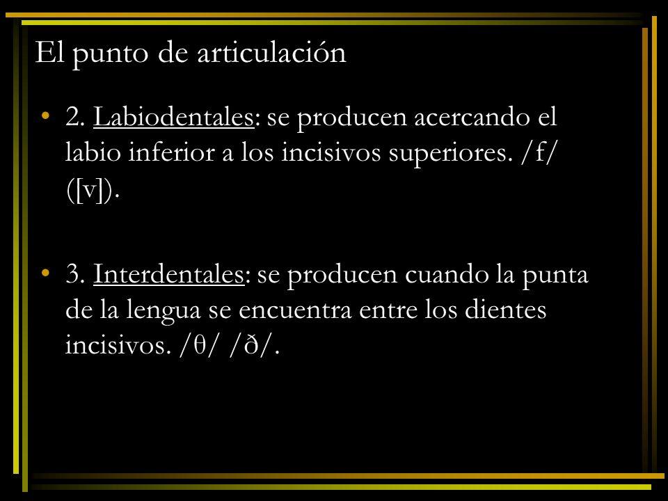 El punto de articulación 4.
