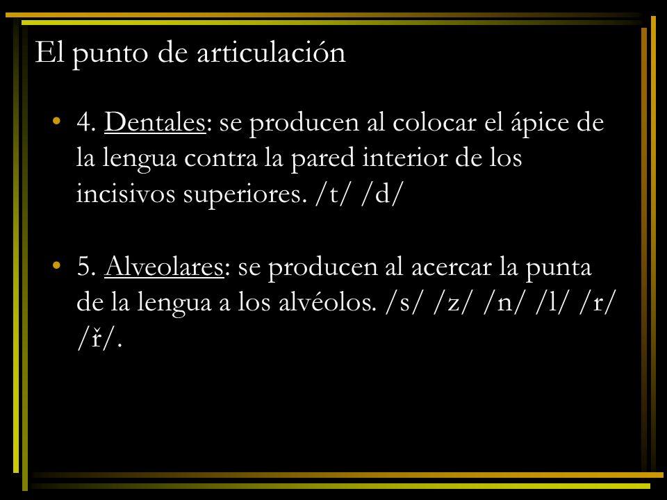 El punto de articulación 6.