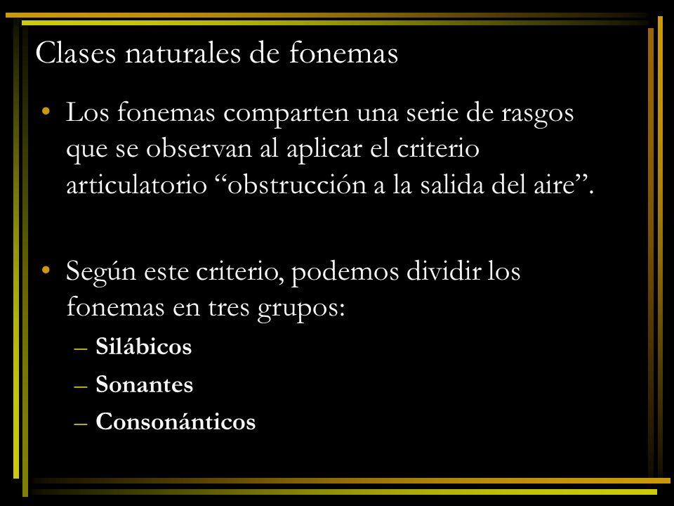 Clases naturales de fonemas 1.