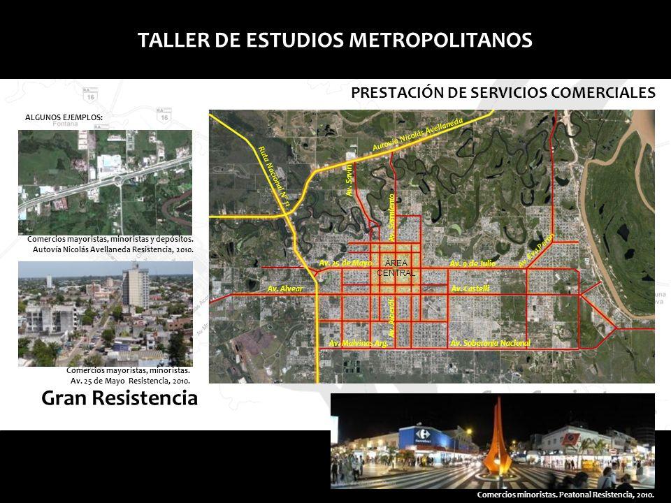 TALLER DE ESTUDIOS METROPOLITANOS PRESTACIÓN DE SERVICIOS COMERCIALES Comercios mayoristas, minoristas y depósitos. Autovía Nicolás Avellaneda Resiste